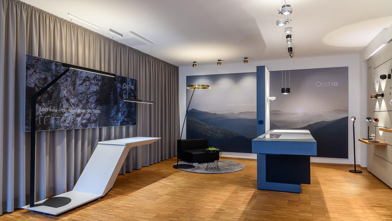Occhio Showroom im Beleuchtungs-Studio Lichtland in Essen