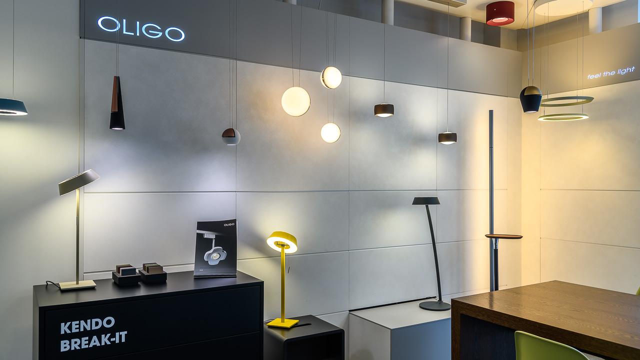 Oligo Showroom im Beleuchtungs-Studio Lichtland in Essen