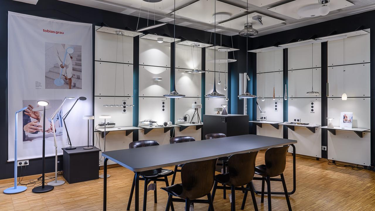 Tobias Grau Showroom im Beleuchtungs-Studio Lichtland in Essen